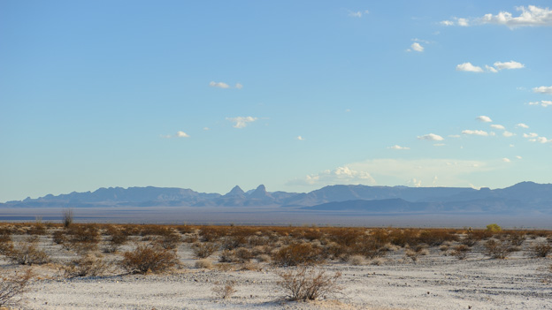 Mojave Landscape with mountains in the background