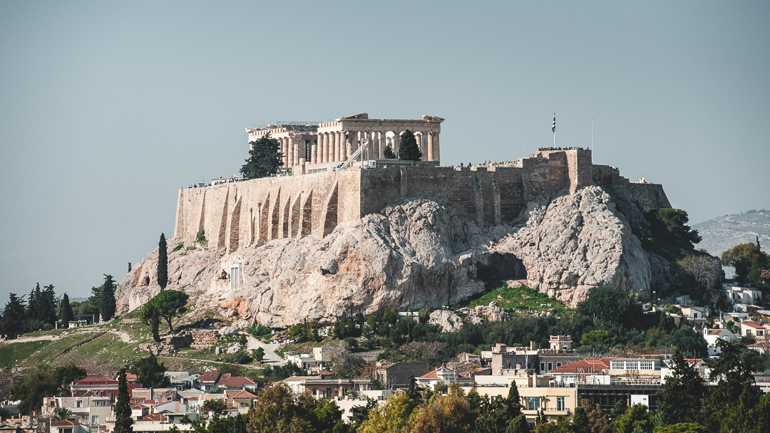 Acropolis from Panathenaic Stadium