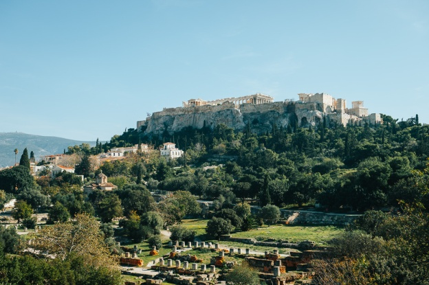 View of Acropolis Hill from the Temple of Hephaestus