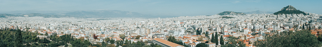 Panorama of Athens from Acropolis