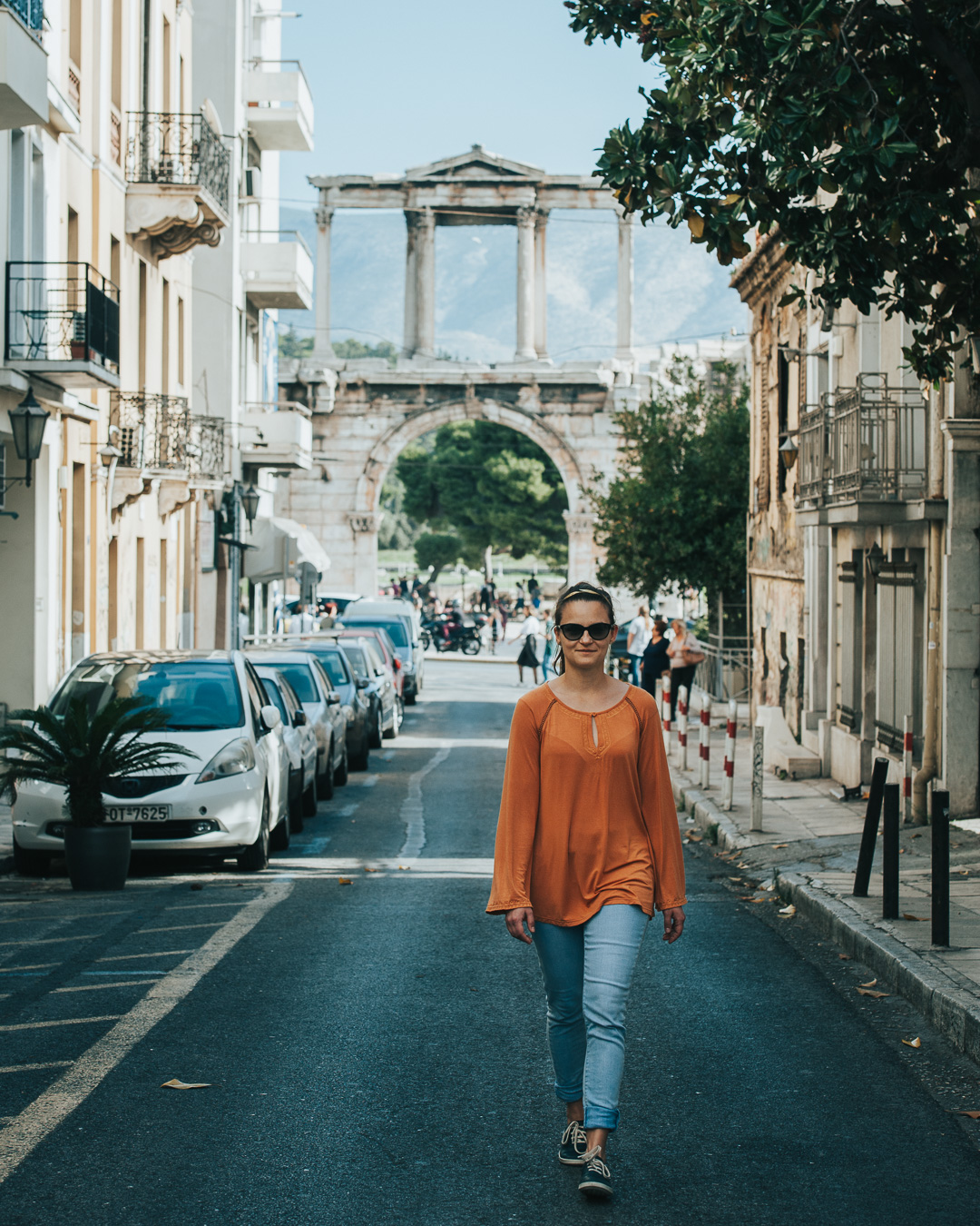 Hadrian Arch in Athens