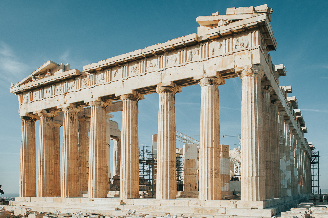 Parthenon in the morning sun