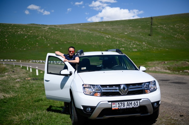 Rental car in Vardenyats Pass (Armenia)