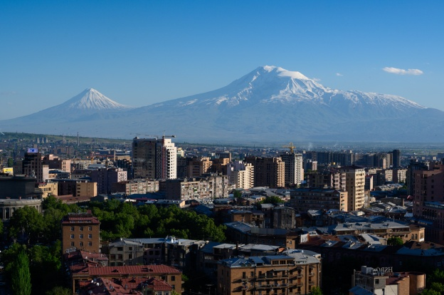 Yerevan in front of Mt Ararat