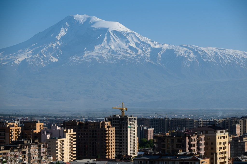 Ararat as seen from Yerevan Cascade