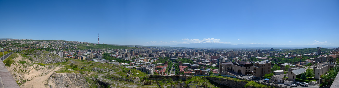 Panorama pf Yerevan from the Cascade
