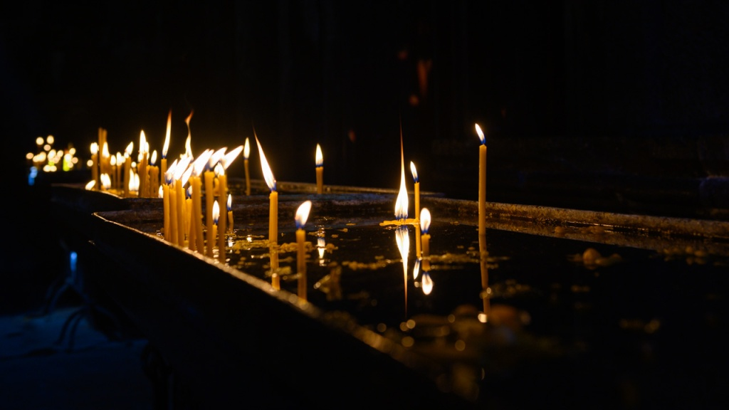 Candles in Geghard