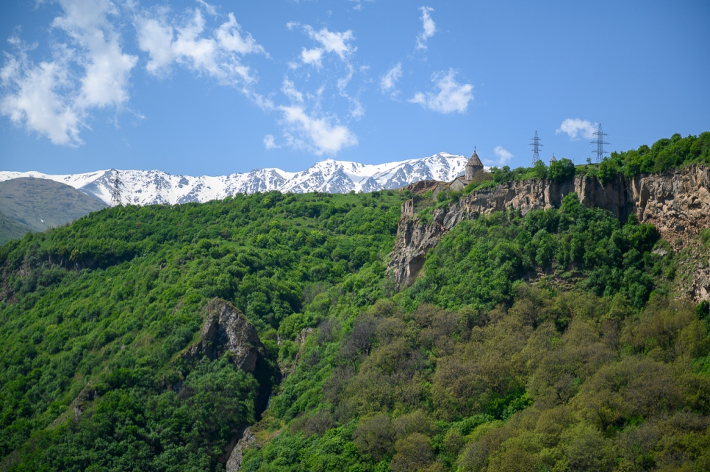 Tatev Monastery on the edge of a deep gorge