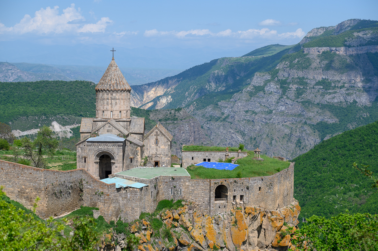 Tatev on the edge of a deep gorge