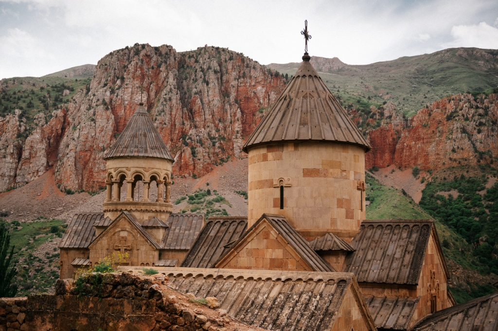 Noravank and brick-red cliffs