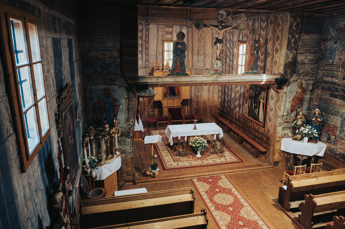 Hervartov wooden church interior