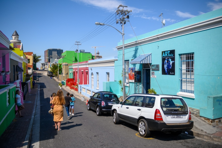 Colourful houses in Boo-Kap Cape Town