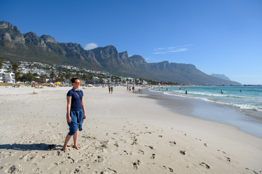 Camps Bay beach and Twelve Apostles Cape Town