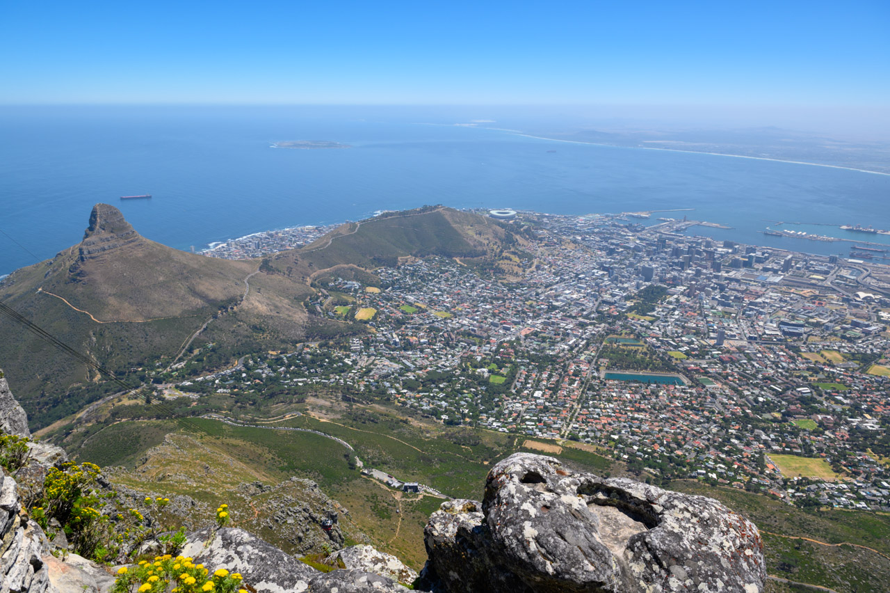 Table Mounted view of Cape Town